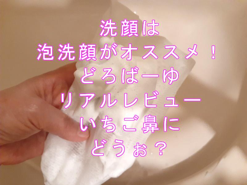 どろばーゆあわ洗顔リアルレビュー & LDKのオススメ洗顔法ご紹介